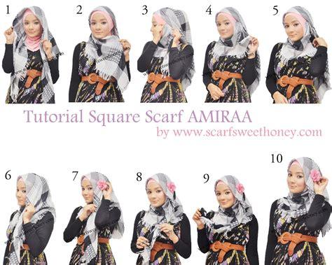 Cara Memakai Jilbab Segi 4 cara memakai jilbab segi 4 scarf amiraa style 1 tutorial