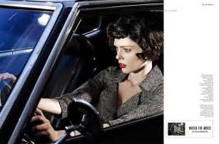 coco noir film coco rocha models new haircut in film noir shoot for