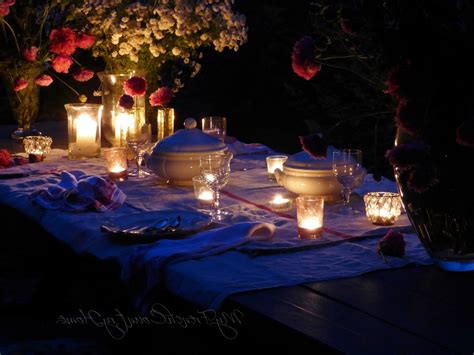 candle light decoration at home great candlelight dinner on your own home outdoor