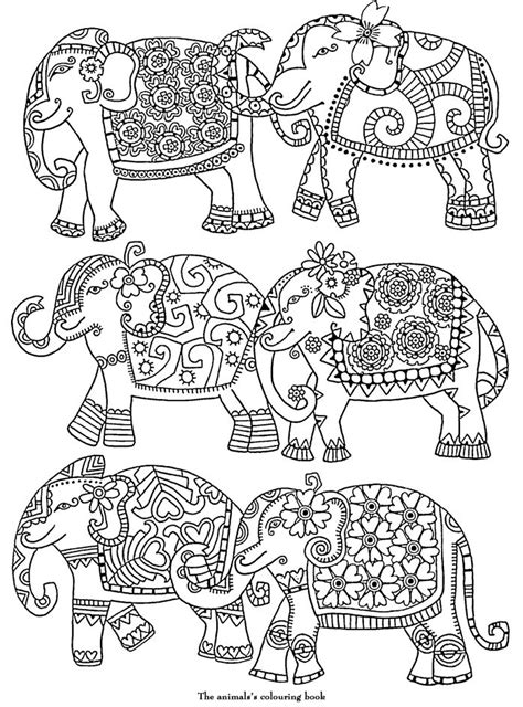 detailed elephant coloring pages elephants abstract doodle zentangle zendoodle paisley