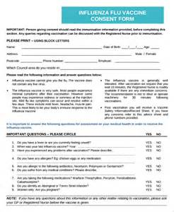 vaccination consent form template sle vaccine consent form 7 free documents