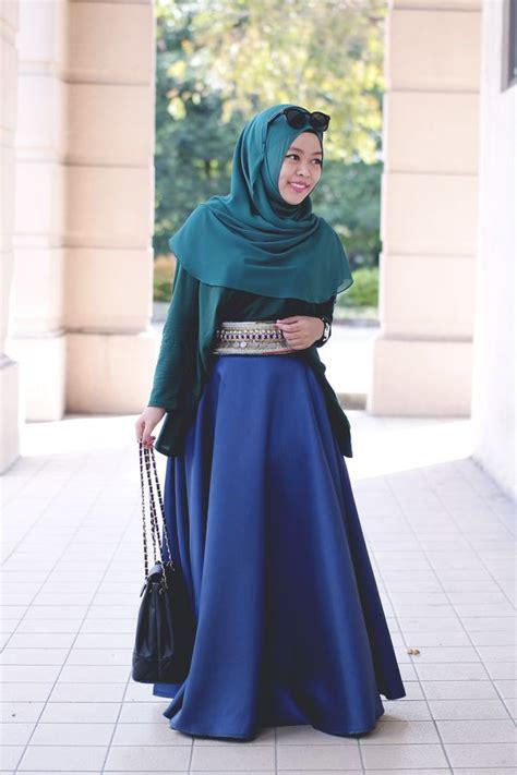 desain baju muslim dress modern  mewah terkini
