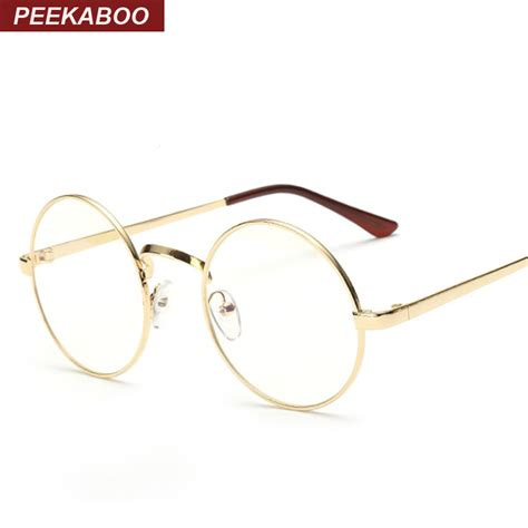 cheap small glasses clear lens unisex gold
