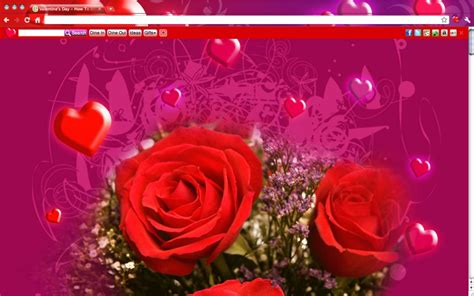 themes love celebrate love with valentine s day google chrome themes