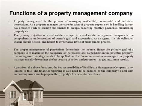 Property Management Companies Functions Of A Property Management Company