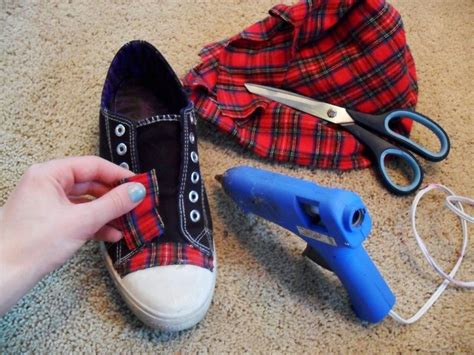 how to make fabric slippers plaid sneakers fabric covered fabrics and