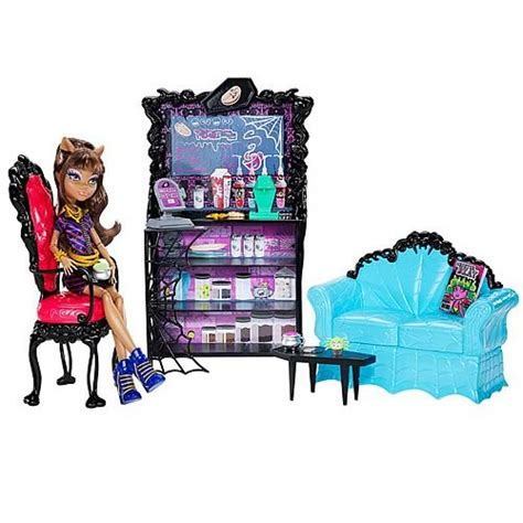 high bed set high coffin bean and clawdeen wolf playset