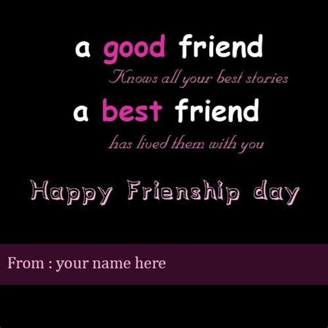 day best friend quotes friendship greeting card pictures with name and friend name