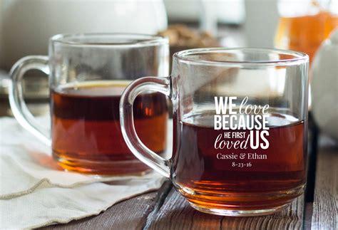 Coffee Mug Giveaways - personalized glass coffee mug favors