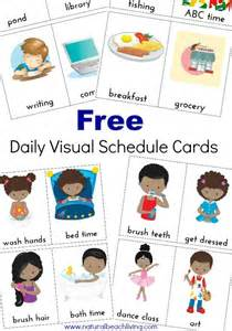 visual schedule template daily visual schedule cards free printables for