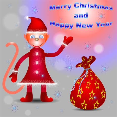 News Happy Holidays From Ebelle5 The Bag by Monkey Santa Congratulates With Merry And Happy