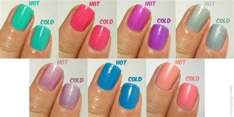 color changing nail in water bys colour change nail enamel nails colors