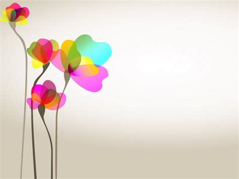 free bright pink flowers green backgrounds for powerpoint flower