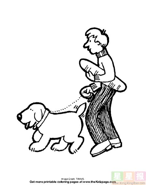 walking dog coloring page man walking with dog coloring page coloring pages