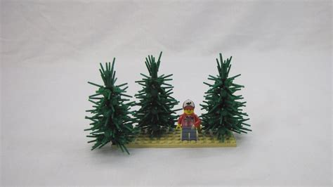 how to make a lego tree how to build a lego pine tree using flower stems