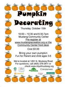 pumpkin decorating city of mustang oklahoma