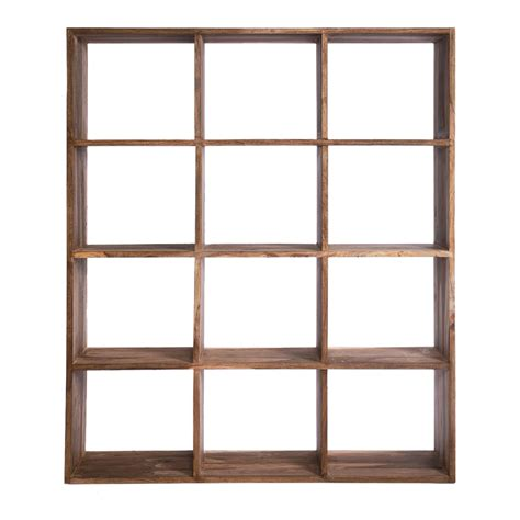 square shelving unit authentico square shelving unit brown achica