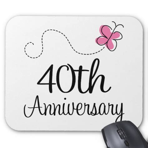 40th anniversary gift mouse pad zazzle