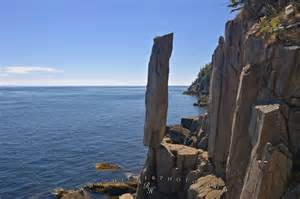 balancing rock coastal geology nova scotia canada photo