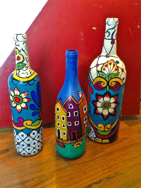 art design in bottle hand painted art bottles bottles and cans pinterest