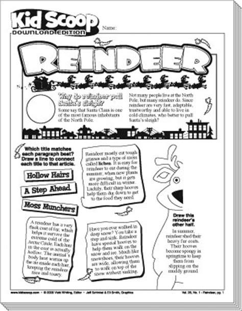 printable reindeer trivia reindeer kid scoop