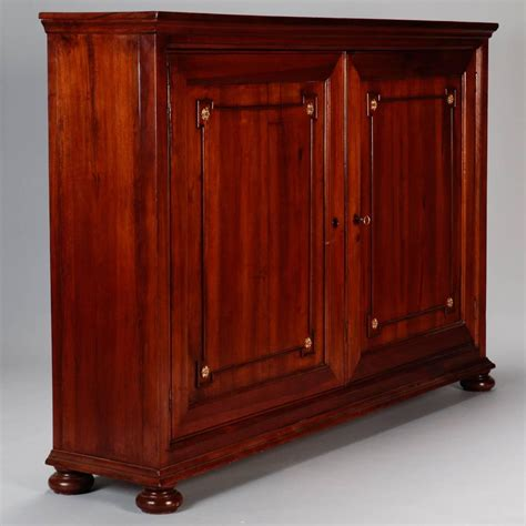 shallow storage cabinet with doors 19th century italian tall walnut two door shallow wall