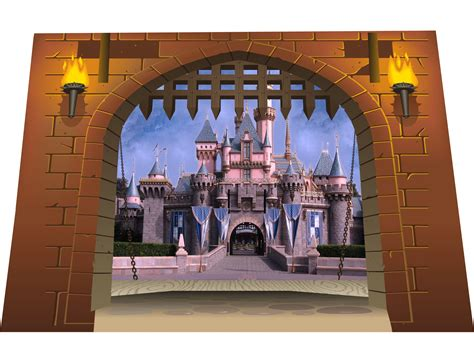 castle wall murals 3d castle gate dungeon dragons view wall sticker mural sm 87