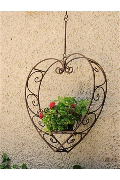 heart hanging plant holder large