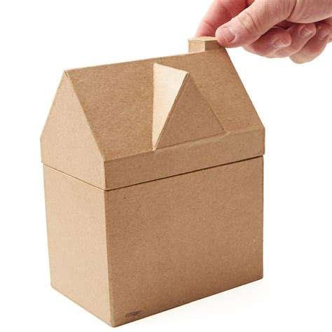 Papercraft Products - paper mache house box paper mache basic craft supplies