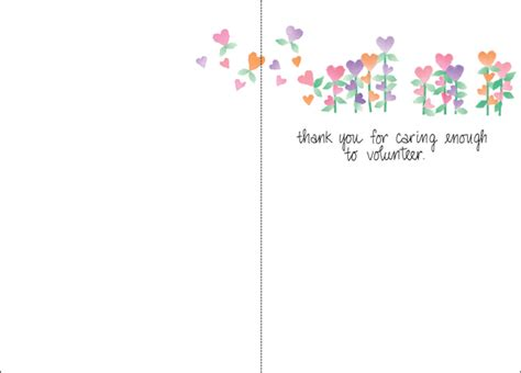Thank You Note For Volunteer Thank You Card Free Volunteer Thank You Cards Simple Thanking A Of Volunteers Thank You