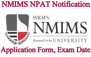 Nmims Application Form 2017 Mba nmims npat aptitude test 2018 application form