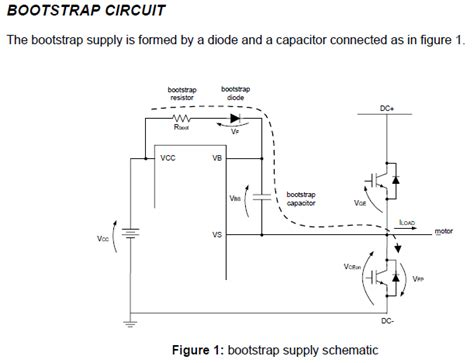 bootstrap capacitor circuit mosfet bootstrap capacitor selection with ir2110 3 electrical engineering stack exchange