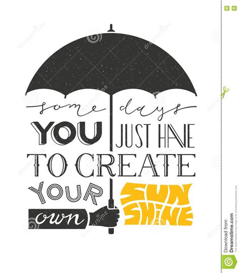 poster with hand holding umbrella and text lettering