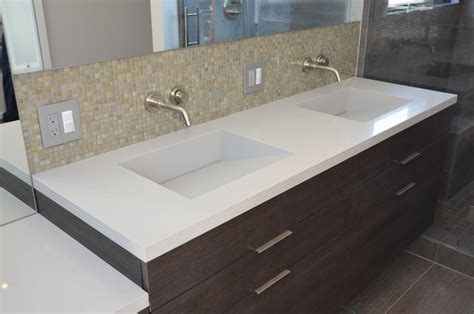 quartz bathroom vanity tops quartz integrated sinks modern vanity tops and side splashes san francisco by