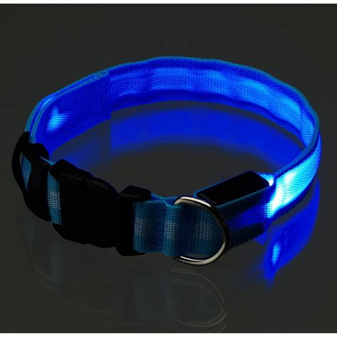 light up dog harness artis light up safety flashing led dog collar leash ebay
