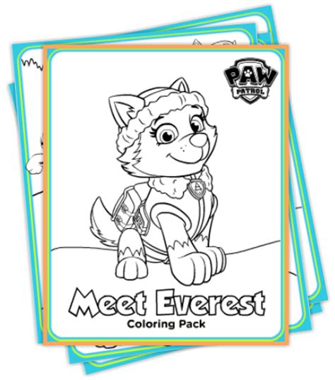 printable paw patrol free paw patrol winter coloring pack and diy party