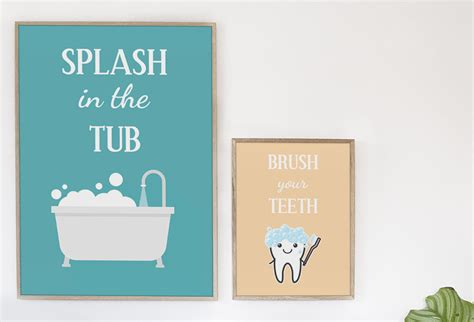 free kids bathroom printables download this set of 3 free printables for your kids bathroom