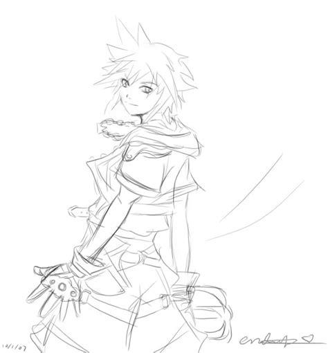 sketchbook sora kh2 sora sketch by enchantma on deviantart
