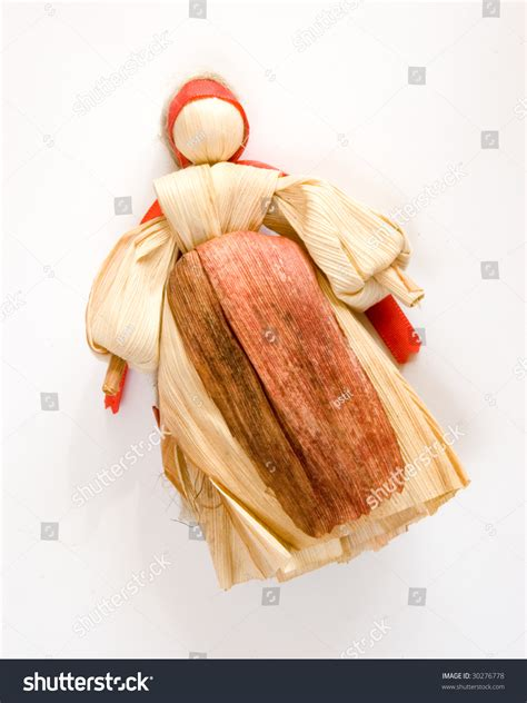 traditional corn husk doll traditional slovak historical corn husk doll stock