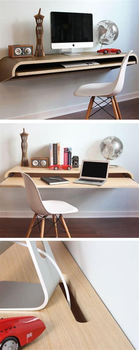 floating desk design minimal floating wall desk furniture design apartment