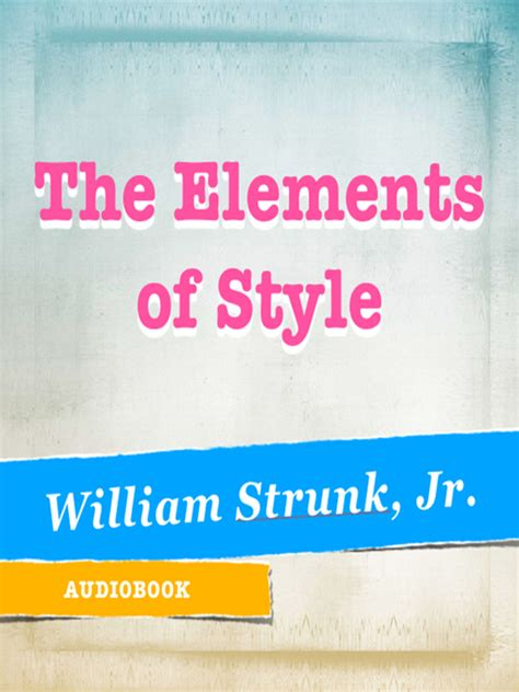 steunk style the elements of style king county library system overdrive