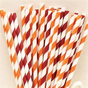 virginia tech colors paper straws virginia tech team colors straws mix