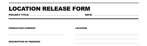free download location release form