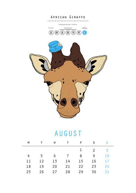 Zoo Design Inspiration | 25 new year 2014 wall desk calendar designs for inspiration