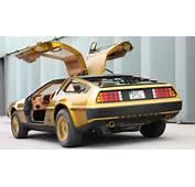 3M's 'Back To The Future' Car Is A Gold DeLorean DMC 12