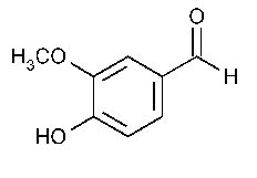 vanillin chemical structure molecular formula reference
