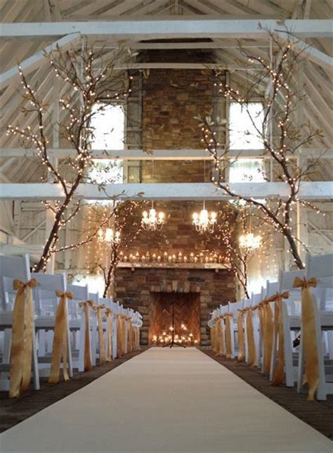 Wedding Venues With Fireplaces by 25 Best Ideas About Lighted Trees On Potted