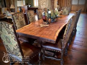 Rustic Wooden Dining Tables Rustic Dining Table Live Edge Wood Slabs