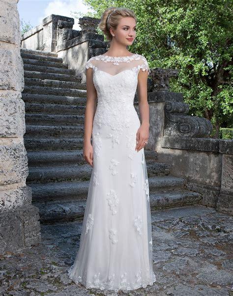 Longdress Sabrina Vera sincerity wedding dress style 3880 a sabrina neckline jacket accents this sweetheart