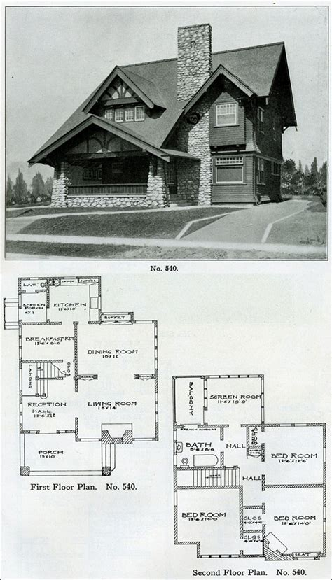 1910 house plans 1910 early eclectic english tudor design no 540